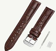 economico -vera pelle / Pelle / Pelo di vitello Cinturino per orologio  Nero / Marrone 17 cm / 6,69 pollici / 18 cm / 7 pollici / 19 cm / 7,48 pollici 1,2 cm / 0,47 pollici / 1,4 cm / 0,55 pollici / 1,6 cm