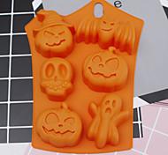 economico -stampo in silicone per halloween 6 cavità stampo per biscotti a forma di pipistrello fantasma di zucca