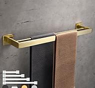 abordables -porte-serviettes porte-serviettes salle de bain barre à double pôle acier inoxydable étagère murale accessoires de quincaillerie barre de tour à 2 carrelages 30/40/50/60 cm