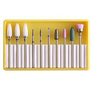 economico -lucidatrice per unghie strumento in lega di acciaio al tungsteno ceramica smalto per unghie testa set strumento di lucidatura