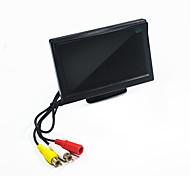 economico -Monitor per auto da 5 pollici monitor LCD a colori 24v / 12v per auto bus camion cctv supporto ventosa inversa