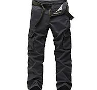 economico -Per uomo Essenziale Quotidiano Carico tattico Pantaloni Tinta unita Lunghezza intera Nero Verde militare Cachi Grigio