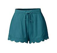 abordables -Femme basique Short Pantalon Couleur Pleine Noir Bleu Vin Orange Bleu Roi