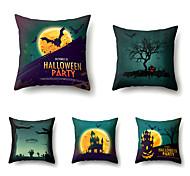 abordables -fête d'halloween décor d'halloween fantôme d'horreur 1 lot de 5 pièces série d'halloween couvre-oreillers décoratifs modernes taie d'oreiller taie de coussin, 18 * 18 pouces 45 * 45 cm