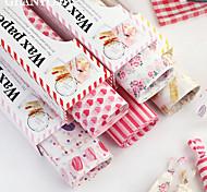 abordables -50pcs papier jetable sandwich papier d'emballage de hamburger papier d'emballage de cuisson
