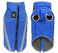 abordables -manteau d'hiver pour chien, veste imperméable réfléchissante pour chien, vêtements pour animaux de compagnie par temps froid pour chiens de taille moyenne (bleu)