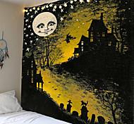 abordables -Tapisserie impression halloween lune tapis décoration de la maison nuit lune hippie tapisserie murale tapisserie décoration
