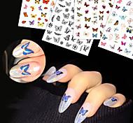 abordables -autocollants de transfert d'eau autocollants de papillon d'art d'ongle autocollants 3d imperméables autocollants d'ongle de papillon mignon