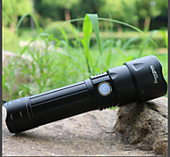 abordables -Lampes Torches LED Imperméable LED Émetteurs 3 Mode d'Eclairage avec Piles et Câble USB Imperméable Portable Ajustable LED Camping / Randonnée / Spéléologie Usage quotidien Cyclisme Pêche Camping
