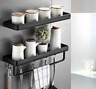 abordables -30cm cuisine salle de bain étagère baignoire douche étagère aluminium noir salle de bain étagère d'angle mural noir aluminium support de rangement de cuisine