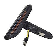abordables -2 pcs Fumée LED Feu de position latéral Indicateur d'eau qui coule Clignotants pour BMW E90 E91 E92 E93 E60 E87 E82 E61 Clignotant sans erreur jaune