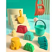 abordables -Jouets de plage Ensemble de jouets de sable de plage Jouets aquatiques 7 pcs ABS Très Grand 7 en 1 Pour Enfant Adulte