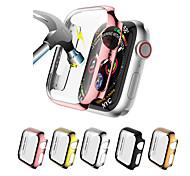 economico -Custodie Per Apple  iWatch Apple Watch Serie SE / 6/5/4/3/2/1 Vetro temperato / PU Proteggi Schermo Custodia per Smartwatch  Compatibilità 38 millimetri 40 mm 42 millimetri 44mm
