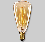 economico -1 pc 40 W E14 ST48 Bianco caldo 2300 k Lampadina a incandescenza vintage Edison 220-240 V