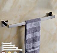 abordables -porte-serviettes étagère de salle de bain en acier inoxydable galvanisé nouveau design salle de bain à tige unique fixée au mur 1pc finition chromée et peinte