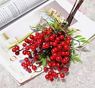 abordables -Affichage de table de baies artificielles en polystyrène bouquet rustique bouquet de fleurs de table 6 pièces plantes artificielles