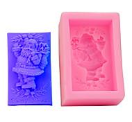 economico -1 pz stampo per torta 3d rettangolo stampo in silicone santa