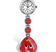 economico -caramella colore sorriso cuore faccia infermiera clip orologio medico risvolto tasca fibbia orologio litbwat
