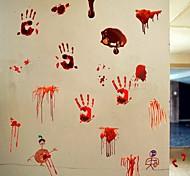 abordables -fête d'halloween décor d'halloween fantôme d'horreur 3d empreinte de main de sang d'horreur stickers muraux d'halloween stickers muraux décoratifs, décoration de la maison en pvc sticker mural