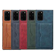 economico -telefono Custodia Per Samsung Galaxy Per retro Custodia in pelle Porta carte di credito Note 20 Ultra S10 S10 + Galaxy S10 5G Note 20 A portafoglio Resistente agli urti Tinta unica pelle sintetica