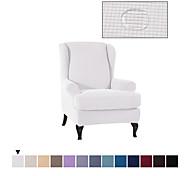 abordables -Housse de chaise Wingback Couleur Pleine Velventine Polyester Literie