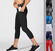 economico -YUERLIAN Per uomo Pantaloni Pantaloni a compressione Sportivo 3/4 Collant / Corsari Livello Base Capri con tasca per telefono Elastene Fitness Allenamento in palestra Esibizione Corsa Addestramento