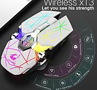 abordables -litbest x13 sans fil bluetooth sans fil 2.4g souris de jeu optique souris rechargeable multi-couleurs rétroéclairé 2400 dpi 3 niveaux de dpi réglables 6 touches pcs