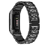 economico -Cinturino intelligente per Fitbit 1 pcs Stile dei gioielli Acciaio inossidabile Sostituzione Custodia con cinturino a strappo per Carica Fitbit 4 18 millimetri