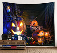 abordables -halloween mur tapisserie art décor couverture rideau pique-nique nappe suspendu maison chambre salon dortoir décoration psychédélique effrayant citrouille polyester
