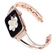 abordables -1 pièces Bracelet de Montre  pour Apple  iWatch Conception de bijoux Bande d'affaires Acier Inoxydable Sangle de Poignet pour Apple Watch Series SE / 6/5/4/3/2/1