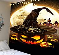 abordables -Halloween effrayant citrouille chapeau crâne tapisserie mur tapisserie tissu tapisserie maison bar halloween bricolage décoration pour la fête d'halloween