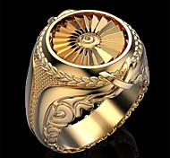 economico -Anello Classico Oro Argento Rame Placcato in oro Fiore decorativo Di tendenza 1pc 9 10 11 12