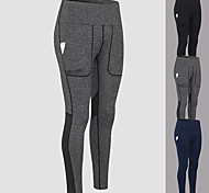 economico -YUERLIAN Per donna Vita alta Pantaloni Pantaloni a compressione Sportivo Livello Base Pantaloni con tasca per telefono Retato Retato Elastene Inverno Yoga Fitness Allenamento in palestra Esibizione