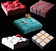 abordables -moule à gâteau en silicone bricolage et moule à géométrie d'irrégularité 1 pc