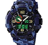 abordables -Montres pour hommes Montre de sport militaire multifonction S-Shock LED Montres d'alarme étanche numérique (grand, rouge)