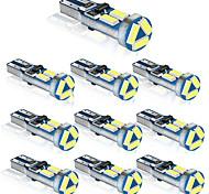 abordables -10 pcs T5 LED W3W Auto LED Lampe De Voiture Tableau De Bord Instrument Lumière 7 LED SMD 4014 Cale LED Ampoule Lampe Indicateur D'avertissement