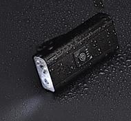 abordables -LED Eclairage de Velo Eclairage de Vélo Avant LED Vélo Cyclisme Imperméable Sortie de charge USB Lithium-ion polymère 800 lm Batterie rechargeable Blanc Camping / Randonnée / Spéléologie Usage