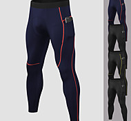 abordables -YUERLIAN Homme Collant Running Pantalon de Compression Athlétique Sous Vêtement Bas avec poche téléphone Spandex Fitness Exercice Physique Spectacle Course Running Entraînement Respirable Séchage