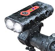 economico -LED Luci bici Luce frontale per bici LED Bicicletta Ciclismo Impermeabile Ruotabile Uscita di ricarica USB Rilascio rapido Solare 700 lm Batteria ricaricabile Ciclismo