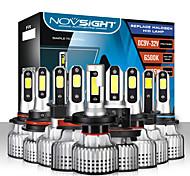 abordables -novsight ampoules de phare de voiture à led h1-h3-h4-h7-h11-h13-9005-9006-9007 faisceau 10000lm (2x5000lm) 72w (2x36w) 6500k phares à led blanc froid pour moteurs généraux universels toutes les années