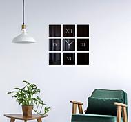 """abordables -Horloge murale bricolage sans cadre, horloge murale acrylique miroir 3d autocollants muraux muets pour salon chambre décorations pour la maison 16 """"* 16"""""""