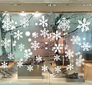 abordables -Noël flocon de neige stickers muraux stickers muraux décoratifs, pvc décoration de la maison sticker mural décoration murale décoration de fenêtre en verre / amovible 50 * 35 cm