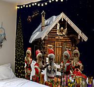 abordables -tapisserie murale de noël art décor couverture rideau pique-nique nappe suspendu maison chambre salon dortoir décoration ornement mur tapisserie de haute qualité décoration de la maison polyester