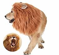 abordables -Costume de crinière de lion de chien - perruque de lion réglable drôle - costumes de chien perruque pour animaux de compagnie convient aux chiens de taille moyenne à grande