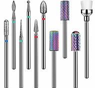 abordables -Ensemble de forets à ongles en carbure de tungstène - Forets de 3/32 pouces pour ongles, mèches à ongles efile Forets à ongles professionnels pour ongles en gel acrylique, foret à cuticule diamant