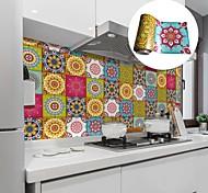 abordables -huile de cuisine créative et autocollants pour carreaux imperméables autocollants muraux de protection de l'environnement de style marocain amovibles auto-adhésifs