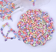 abordables -Snap Pop perles Kit de fabrication de bijoux DIY Bracelets Collier Bandeau et Anneaux Jouet 350 pcs Créatif A Faire Soi-Même Carcasse de plastique Pour Enfant Garçons et filles