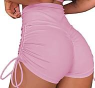 abordables -Femme Shorts de Yoga Fesses plissées Lifting des fesses plissées Cuissard  / Short Bas Contrôle du Ventre Lifting des fesses Respirable Léopard camouflage Vert Véronèse Rose Bleu de minuit Yoga