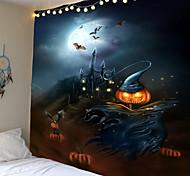 abordables -Tapisserie citrouille chauve-souris impression halloween tapis décoration de la maison nuit lune hippie tapisserie tenture murale tapisserie décoration