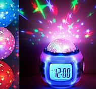 abordables -musique étoilé étoile ciel numérique led projecteur staycation staycation réveil calendrier décoration